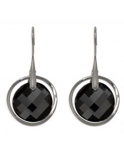 13SWSE007F - ARETE PLATA BOUMEX .925 BLACK EMBELLISHED WITH CRYSTALS FROM SWAROVSKI™
