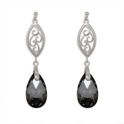 18SWSE005A - ARETES PLATA .925 EMBELLISHED WITH CRYSTALS FROM SWAROVSKI™
