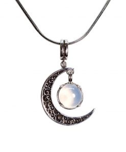 121209245 - COLLAR MOONLIGHT PIEDRA LUNA - PLATA BOUMEX .925