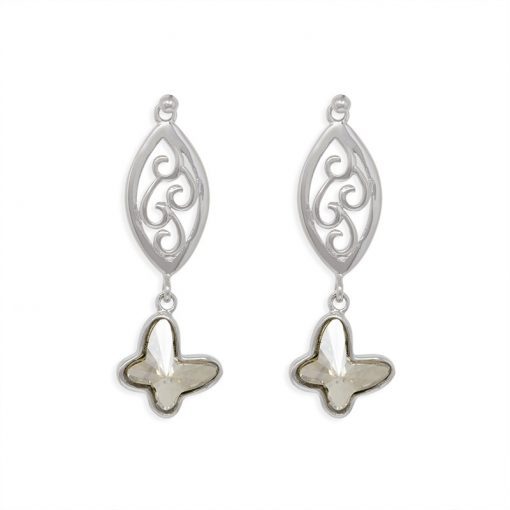 18SWSE005B - ARETES EMBELLISHED WITH CRYSTALS FROM SWAROVSKI™