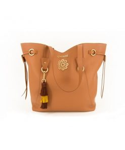8CAR001BH - BOLSO TOTE PIEL NATURAL BOHEMME
